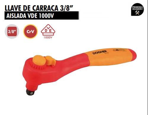 """Imagen de Llave de carraca 3/8"""" aislada DOGHER TOOLS 525-009"""