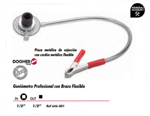Imagen de Goniometro profesional con brazo flexible DOGHER TOOLS