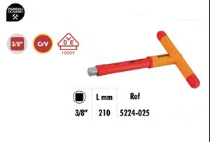 """Imagen de Mango en """"T"""" tope lateral aislado 3/8"""" VDE 1000V DOGHER TOOLS 5224-025"""