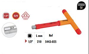 """Imagen de Mango en """"T"""" tope lateral aislado 1/2"""" VDE 1000V DOGHER TOOLS 5443-025"""