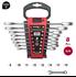 Imagen de Juego 8 llaves combinadas carraca plana sin reversor DOGHER TOOLS 4557-018