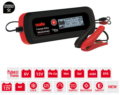 Imagen de Cargador bateria TELWIN T-CHARGE 12 EVO