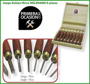 Imagen de Juego 8 micro gubias HOLZMANN HM8