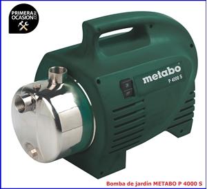 Imagen de Bomba de jardin METABO P 4000 S