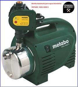 Imagen de Bomba automata para agua domestica METABO HWA 4000 S