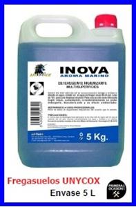 Imagen de Fregasuelos higienizante  UNYCOX 5 litros concentrado