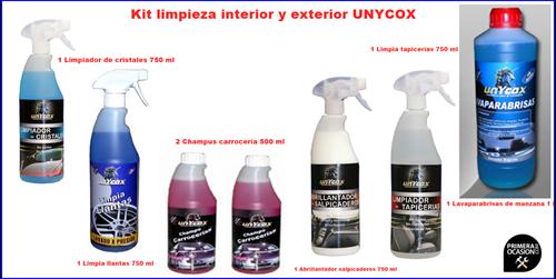 Imagen de Kit limpieza de vehículos UNYCOX 7 unidades