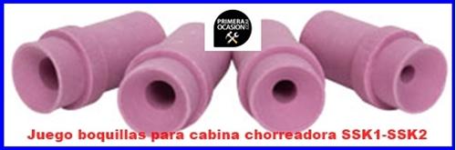 Imagen de Juego de boquillas de recambio para cabina chorreadora de arena SSK y CAT