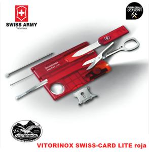 Imagen de Navaja Suiza VICTORINOX SWISS-CARD LITE roja