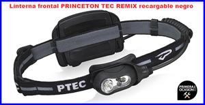 Imagen de Linterna frontal PRINCETON TEC REMIX recargable negro