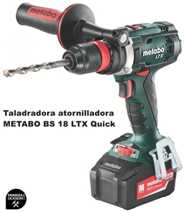 Imagen de Taladradora atornilladora bateria METABO BS 18 LTX QUICK