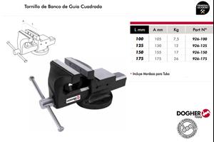 Imagen de Tornillo de banco guia cuadrada DOGHER TOOLS 150 mm