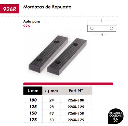 aluminio BGS 9285 anchura 150 mm 2 piezas Mordazas de repuesto