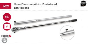 "Imagen de Llave dinamometrica profesional DOGHER TOOLS 1"" 140-980 Nm"