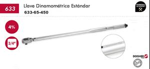 "Imagen de Llave dinamometrica DOGHER TOOLS 3/4"" 65-450 Nm"