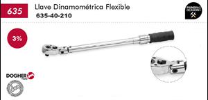 "Imagen de Llave dinamometrica flexible 1/2"" 40-210 Nm DOGHER TOOLS 635-40-210"