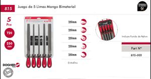 Imagen de Juego 5 limas mango bimaterial DOGHER TOOLS 815-003