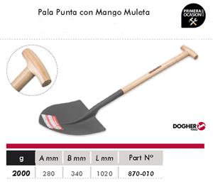 Imagen de Pala punta con mango muleta DOGHER TOOLS 870-010