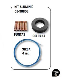 Imagen de Kit aluminio CEVIK para soldadoras MIKROMIG