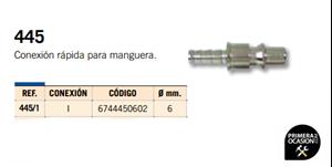 Imagen de Conexion rapida para manguera MICHELIN 445/1