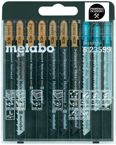 Imagen de 10 Hojas sierra de calar METABO mixtas