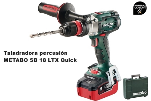 Imagen de Taladradora atornilladora percusión METABO SB 18 LTX QUICK + 2 baterias LiHD