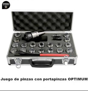Imagen de Juego de 18 pinzas con portapinzas OPTIMUM ISO 40/ER 32-M16/BT 40