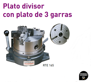 Imagen de Plato divisor con plato 3 garras OPTIMUM RTE 165