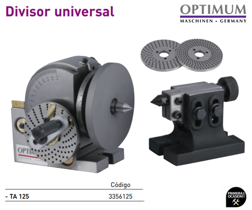 Imagen de Divisor universal fresadora OPTIMUM TA 125