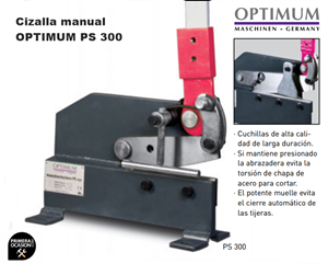 Imagen de Cizalla manual OPTIMUM PS 300