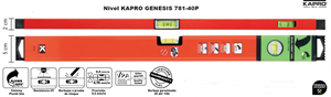 Imagen de Nivel magnetico KAPRO GENESIS 60 cm