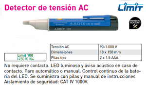 Imagen de Detector de tension AC LIMIT 100