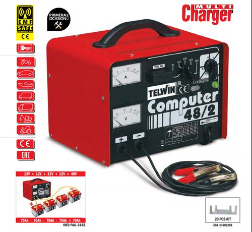Imagen de Cargador bateria TELWIN COMPUTER 48/2 Prof