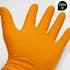Imagen de Guantes nitrilo diamantado naranjas o negros