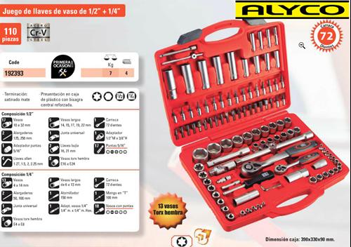 Imagen de Maletin herramientas HR ALYCO 110 piezas 192393