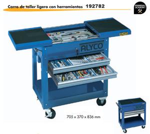 Imagen de Carro de taller ligero con apertura superior+139 herramientas ALYCO 192782