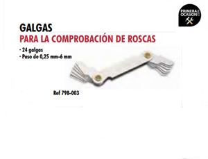 Imagen de Galgas para la comprobacion de roscas DOGHER TOOLS 798-003