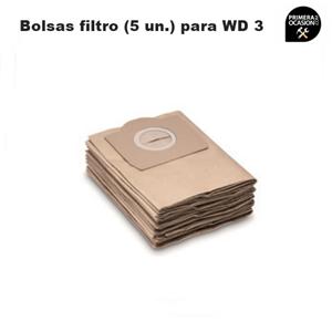 Imagen de 5 Bolsas filtro para aspirador KARCHER WD 3