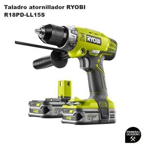Imagen de Taladro atornillador 18V RYOBI R18PD-LL15S