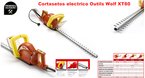 Imagen de Cortasetos electrico Outils Wolf XT60