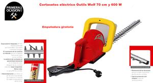 Imagen de Cortasetos electrico Outils Wolf XT70