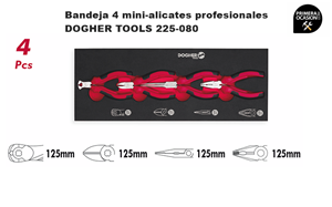 Imagen de Bandeja 4 mini-alicates profesionales DOGHER TOOLS 225-080