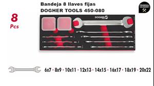 Imagen de Bandeja 8 llaves fijas DOGHER TOOLS 450-080