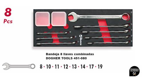 Imagen de Bandeja 8 llaves combinadas DOGHER TOOLS 451-080