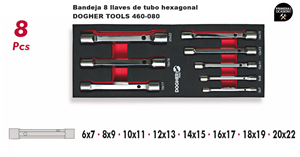 Imagen de Bandeja 8 llaves de tubo hexagonal DOGHER TOOLS 460-080