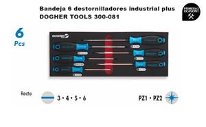 Imagen de Bandeja 6 destornilladores industrial plus DOGHER TOOLS 300-081