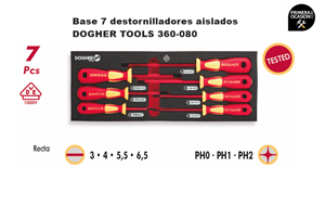Imagen de Bandeja 7 destornilladores aislados 1000V DOGHER TOOLS 360-080