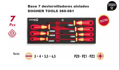 Imagen de Bandeja 7 destornilladores aislados 1000V DOGHER TOOLS 360-081