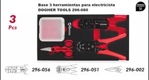 Imagen de Bandeja 3 herramientas para electricista DOGHER TOOLS 296-080