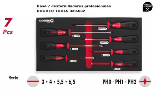 Imagen de Bandeja 7 destornilladores profesionales DOGHER TOOLS 330-082
